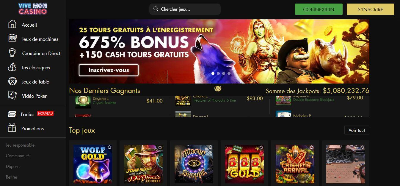 Bonus casino Vive Mon Casino : quelles sont les offres proposées ?