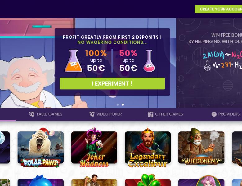 Jeux Madnix casino : tout ce qu'il faut savoir à son propos